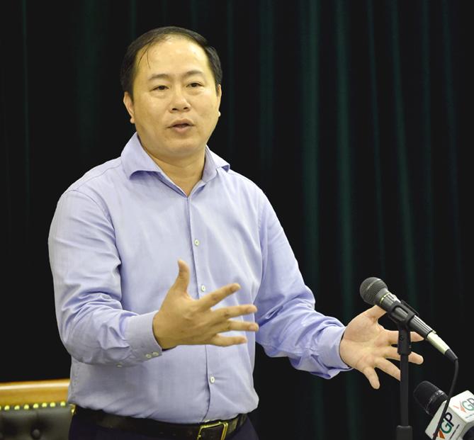 Chủ tịch Tổng Công ty Đường sắt Việt Nam Vũ Anh Minh. Ảnh: VGP/Nhật Bắc