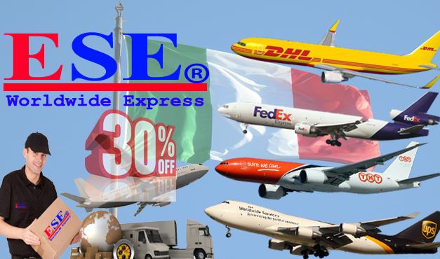 Giảm 30% giá cước gửi hàng đi Ý (Italia) qua Fedex, TNT, UPS và DHL